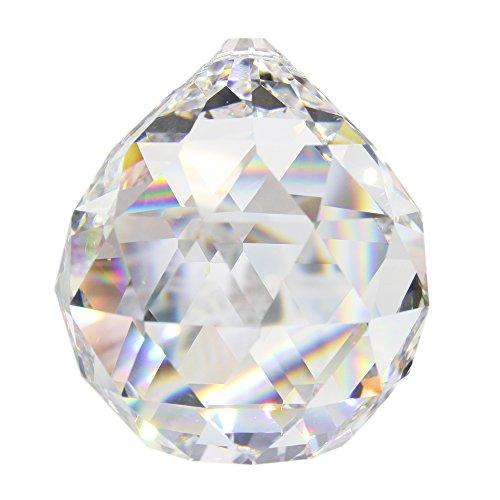 9 Stück Kristallglaskugel 20mm im Set Bleikristall-Kugel Regenbogenkristall zum aufhängen Fensterschmuck Feng Shui Waldorf Kristallglas Kristallkugel Energieverstärker und Sonnenfänger