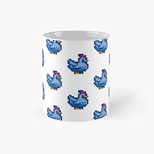 Stardew Valley Blue Chicken Classic Mug - 11 Ounce For Coffee, Tea, Chocolate Or Latte.