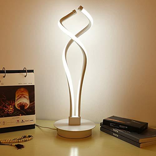 VIWIV Lámpara de escritorio simple lámpara de escritorio, barra de cabeza, creativa, artes decorativas, mando a distancia, tres tonos, 42 x 20 x 10 cm (color: dorado)