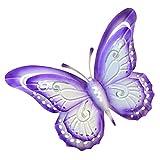 Cabilock Mariposa de Metal Decoración de Pared de Hierro Escultura de Arte de Pared de Jardín Vintage Colgante de Pared Decoraciones Ornamentos Púrpura