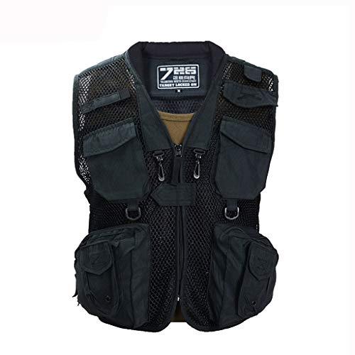 Houd warm Taillejas Heren Taillejas Zakvest Workwear vest Outdoor vest Multi-pocket vest Buitenjas met afneembare achterkant Thicken