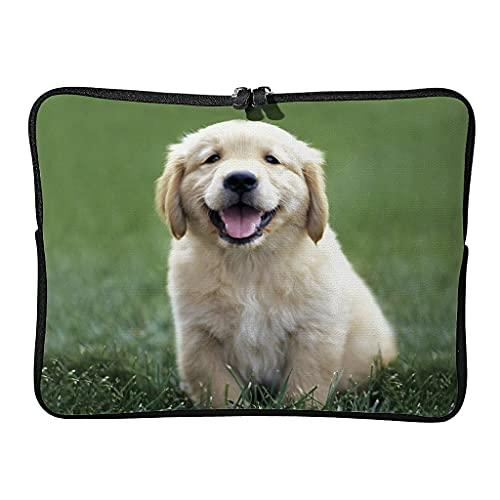Bolsa para portátil de Golden Retriever para uso diario, diseño retro grande, para los amantes de las mascotas, adecuada para exteriores