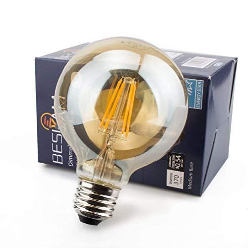 LED電球 BESLAM エジソン電球 40W形相当 4.5W E26口金 調光器対応 電球色 2200K 400lm LED フィラメント電球 エジソンランプ レトロ電球 アンバーガラス 装飾電球 おしゃれ 密閉器具対応 2年保証 PSE認証済 G80(1個入)