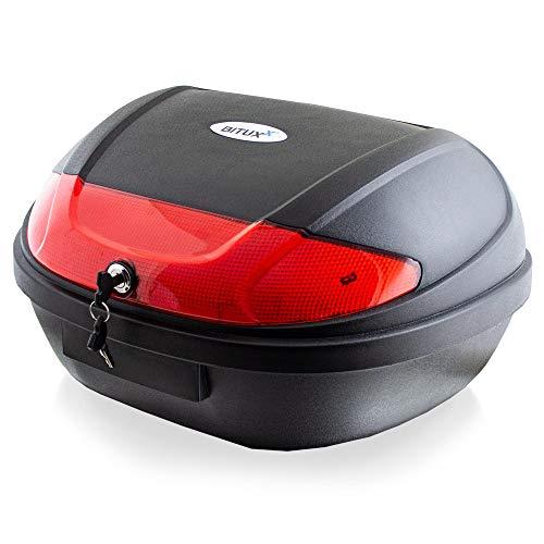 BITUXX® Topcase Motorradkoffer Helmbox Für Motorrad Roller Mofa Quad AVT aus ABS 48L