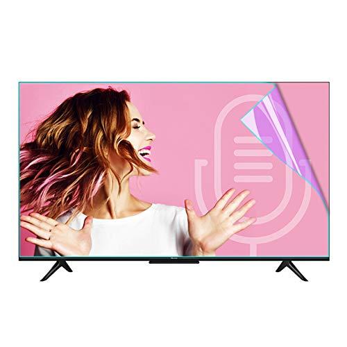 Protector de Pantalla de TV,Filtro de Panel Anti-daños Bloqueo de Luz Azul Y UV Se Adapta A Pantallas de TV, LCD, LED, 4K OLED Y QLED HDTV ALGFree (Color : Clear, Size : 49 inch-1075x604mm)