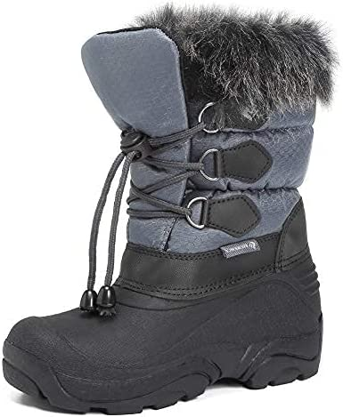 Kids Snow Boots Girls Boys Outdoor Boots Waterproof for Toddler Warm Boots with Fur Lined (Toddler/Little Kids)