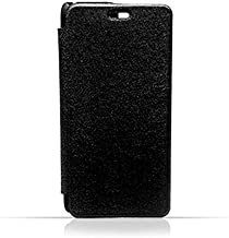 HTC Desire 526 G Plus Black Frosted PU Leather Flip Cover