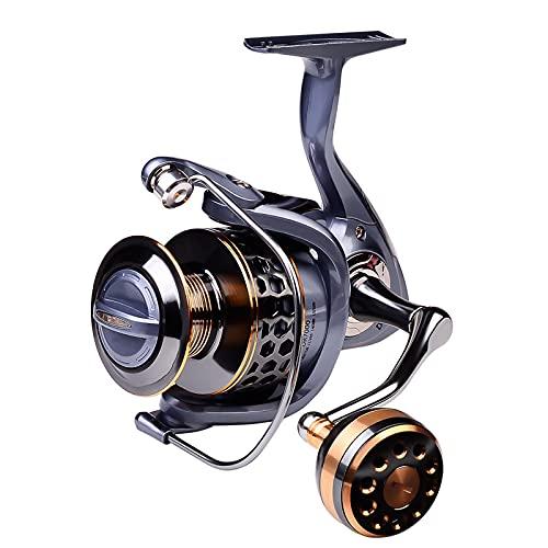 GvvcH Carrete de Pesca Hilado Serie 2000-7000 Carrete Spinning de Carrete de Metal para Pesca en el Mar Carpa,2000