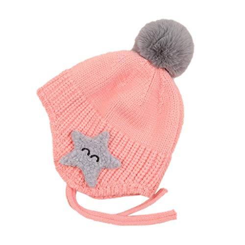Amphia Baby Wintermütze, Baby-Mädchen Mütze, Weihnachtsmütze Strickmütze -Baby Mütze Winter Strickmütze Kinder Cartoon Cute Hat