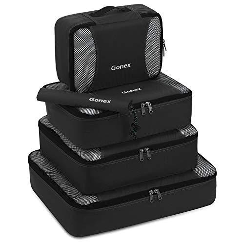 Gonex Kleidertaschen-Set, 5-teilig, je 1 Beutel, kleine, mittelgroße, große und größere Packtasche, schwarz
