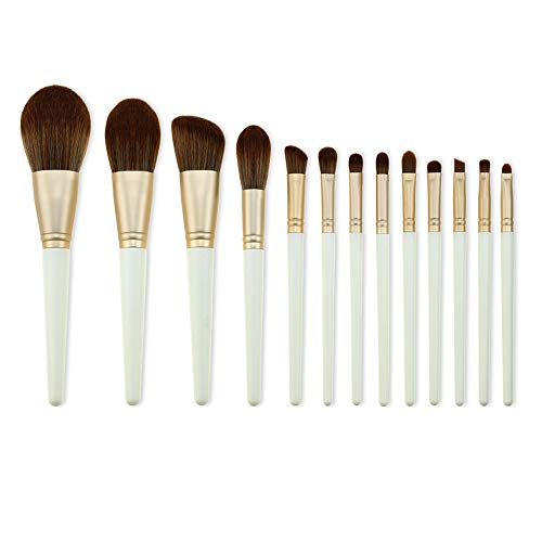 ZHAOXINPA Ensemble de pinceaux de maquillage de beauté, pinceaux de maquillage avec étui de brosse, mixeur et nettoyant de beauté