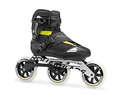 Rollerblade Endurace Elite 110 Unisex Adult Fitness Inline Skate, Black and Lime, Premium Inline Skates