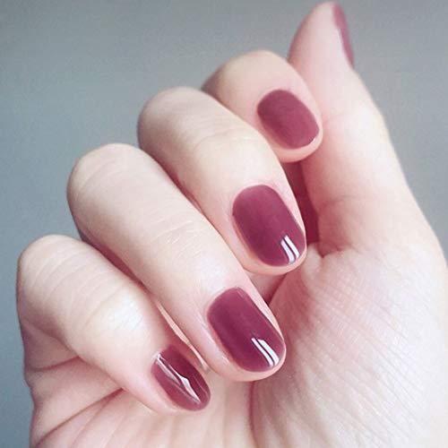 Fashband Purple Fake Nails Farbverlauf Drücken Sie auf Nagel Schmuck Nägel Ge Short Length Oval Shaped Full Cover Acryl Falsche Nägel 24 Stück für Frauen und Mädchen.