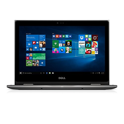 """Dell i5368-10024GRY 13.3"""" FHD 2-in-1 Laptop (Intel Core i7-6500U 2.5GHz Processor, 8 GB RAM, 256 GB SDD, Windows 10 Microsoft Signature Image) Gray"""
