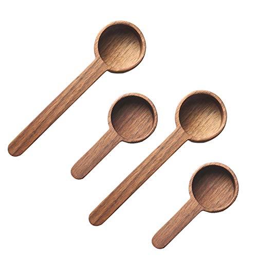 YDong Juego de Cucharas Medidoras de Madera, Cucharas Medidoras de Cocina, Cucharas de Té, Café, AzúCar, Especias,...