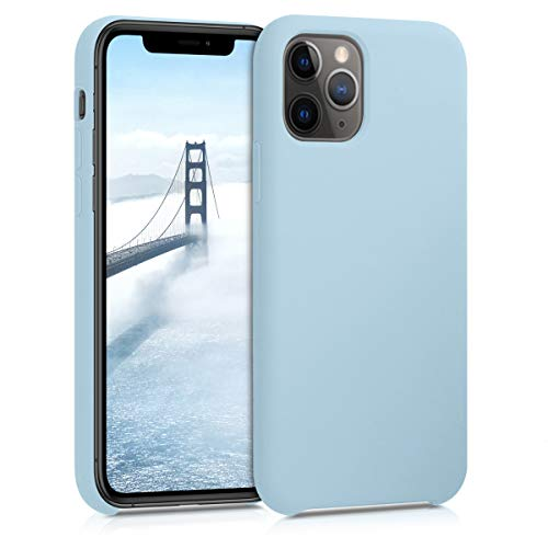 kwmobile Cover Compatibile con Apple iPhone 11 PRO - Custodia in Silicone TPU - Back Case Protezione Cellulare Celeste Pastello