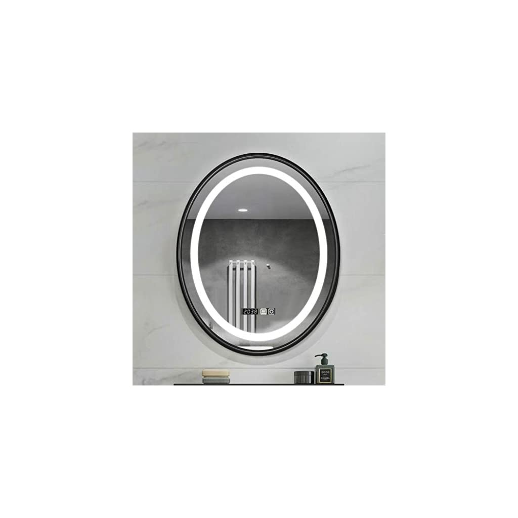Miroir de Salle de Bain Bathroom Mirror Illuminated Anti Brouillard Led Miroir salle de bains Antidéflagrant Miroir…