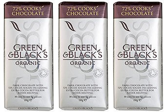 (3 PACK) - Green & Blacks - Organic DARK Cooking Chocolate | 150g | 3 PACK BUNDLE