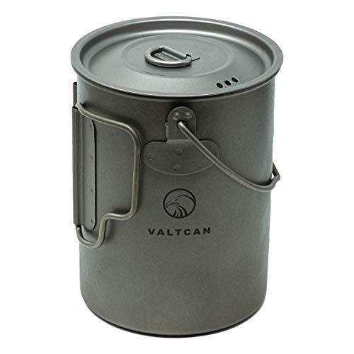 Valtcan Taza de titanio de 900 ml, para mochilero, 34 onzas