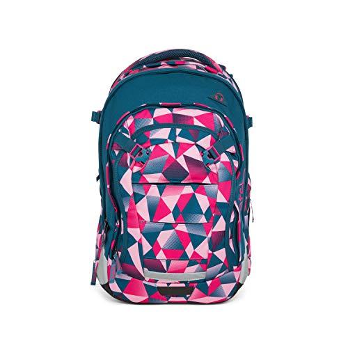 satch Match, Pink Crush ergonomischer Schulrucksack, erweiterbar auf 35 Liter, extra Fronttasche