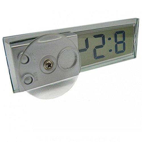 Andux Pare-Brise de Voiture Tableau de Bord numérique écran LCD Mini Horloge CZB-01