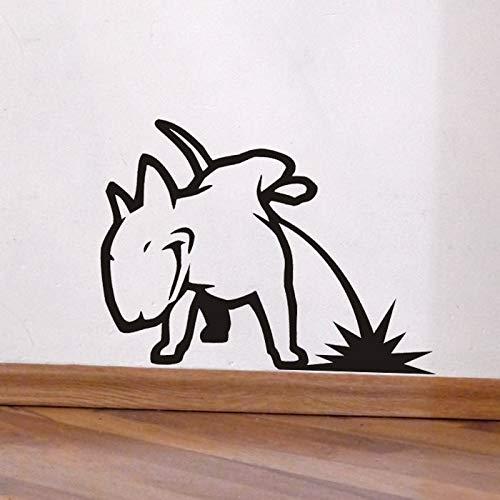 Tianpengyuanshuai Hund Urinal Bullterrier Vinyl wandaufkleber Tier wandtattoo Kinder Schlafzimmer Wohnzimmer Dekoration 81x100 cm
