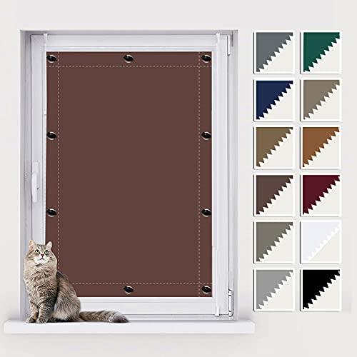 AIYOUVM Fenster Sonnenschutz, Fenster Sichtschutz, UV Schutz Blickdicht und Thermo Sonnenschutz, Thermo-Rollos für Beliebige Fenster 96x98cm