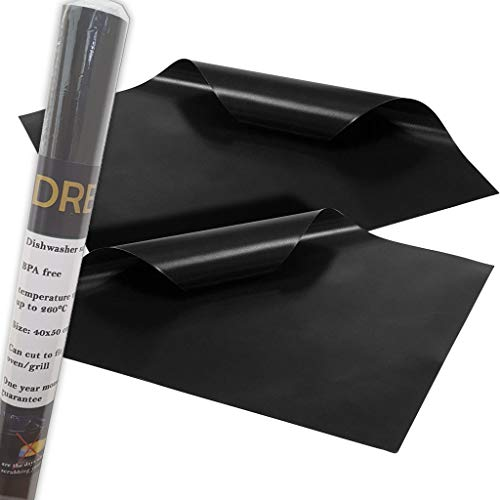 DREO - Revestimiento para horno (2 unidades, antiadherente, fácil de limpiar, 40 x 50 cm)