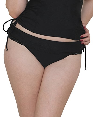 Curvy Kate Women's Jetty Fold Over Brief, Black, 14