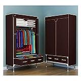 xinxinchaoshi Closet Plegable Armario de Tela no Tejida Paño portátil Closet Organizador de scuage con Vara Colgante y 3...