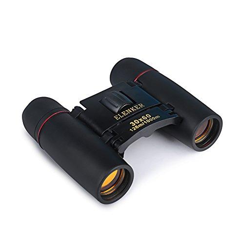 ELENKER Fernglas Teleskope 30 x 60 Zomm mini mit Tasche (Rote Linse)