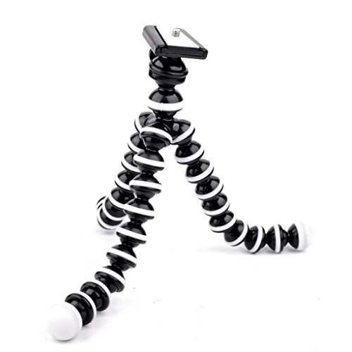 """OKTO10 10"""" Flexible Bendable Octopus Tripod with Quick-Release Plate for Digital Camera"""