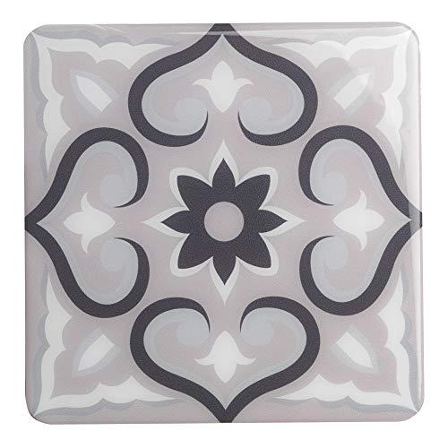 269523 Lazzaro Aurora tegellijm decoratie [4 tegels], grijs, 15 x 15 cm