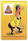 Retro Zigaretten Werbung - HB Männchen - hochwertig geprägtes Blechschild, 30 x 20 cm Wanddekoration