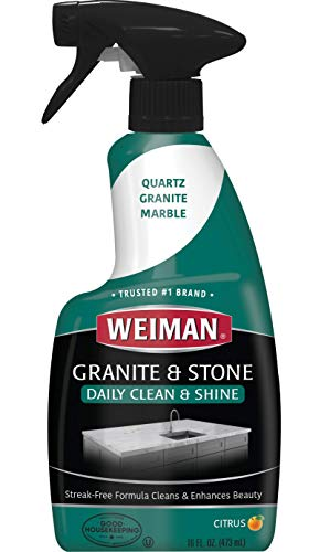 Weiman Granite Cleaner & Polish Spray for Countertops, Vanities, Fireplaces and more, 16 fl oz
