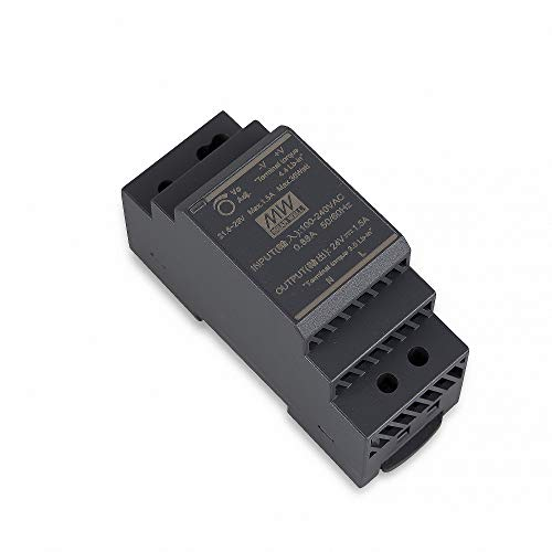 HDR-30-24 LED Netzteil Trafo Hutschienen-Netzteil (DIN-Rail) Mean Well HDR-30-24 24V/DC 30W LED Transformator für LED Beleuchtung