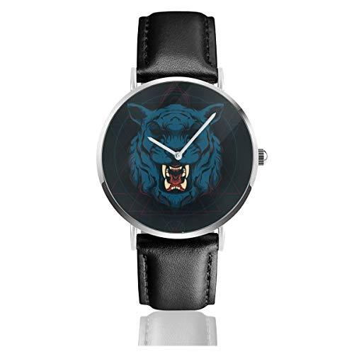 Reloj de Pulsera de Cuarzo con Fondo de Tigre Oscuro para Hombres y Mu