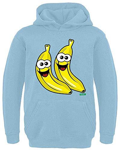 HARIZ Kinder Hoodie Bananen Lachend Früchte Bunt Plus Geschenkkarte Himmel Blau 116/5-6 Jahre