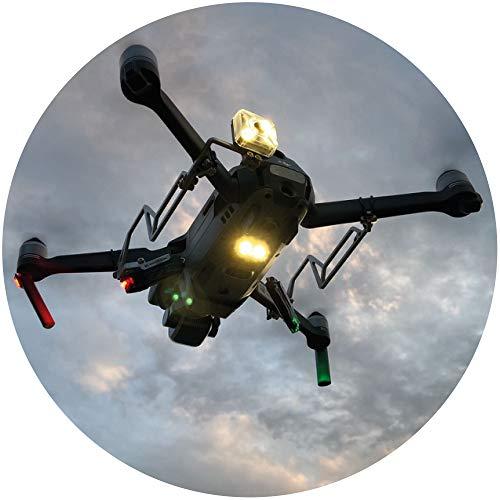 Roboterwerk L.U.N.A Mavic: Nachtflug LED Positionslicht Kit, Drohne Positionslicht, Drohne Taschenlampe, Zubehör für DJI Mavic Pro, Mavic 2 (Pro/Zoom/Enterprise), Rot Grün und Weiß LED Lampe