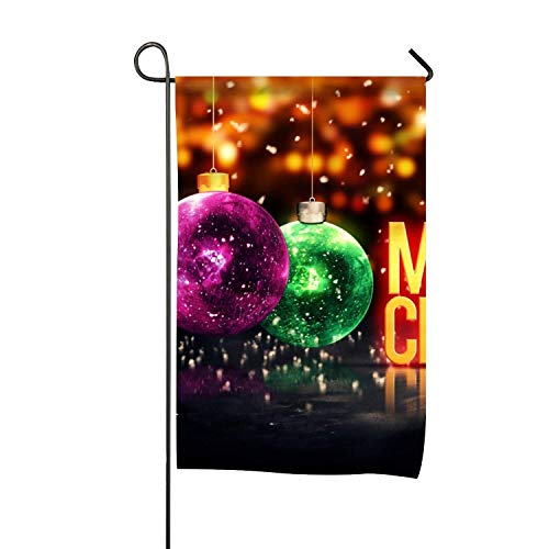 Or Joyeux Noël Ornements12x18 Pouces Prime Garden Flag for Gardens Fade Resistant Garden Yard Flag