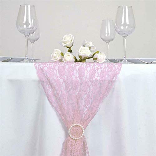 Pink 25% OFF nfLG Fees free!! 5PCS of Floral Lace for Ban Party Table Wedding Runner