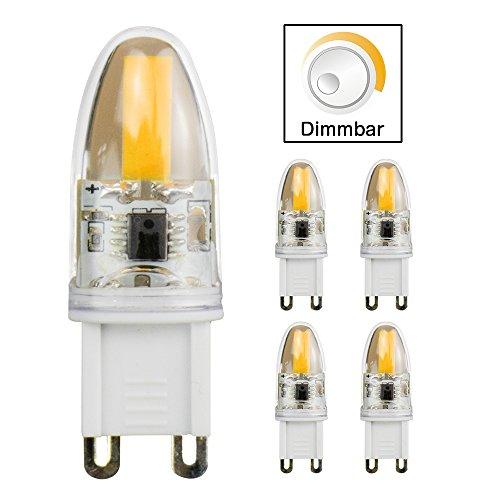 5 pezzi G9 3 W LED lampadina a risparmio energetico, lampadina LED di ricambio una 20 W alogeni lampada, 200 lumens, AC 230 V, luce bianca calda, a intensità variabile, 5 pcs in ogni confezione, 360° angolo di diffusione di, 16 x 48 mm Kyodoled