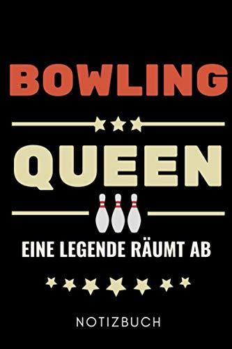 BOWLING QUEEN EINE LEGENDE RÄUMT AB NOTIZBUCH: A5 TAGEBUCH Geschenk für Bowlingspieler | Bowlingbuch | Kegeln | Bowling | Kegelspiel | Mannschaft | Bowlingfan | Bowler | Sport | Männer