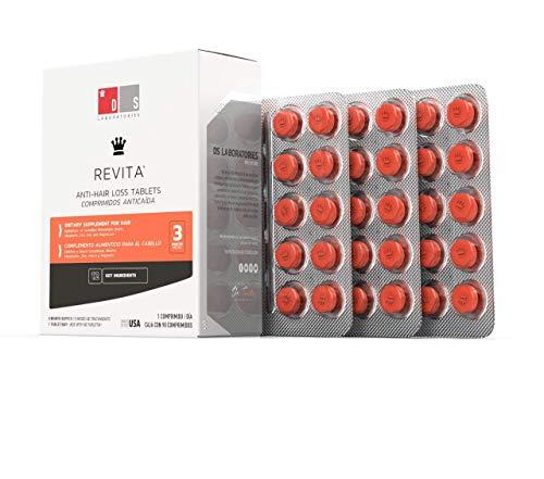 DS Laboratories Revita tablets tratamiento anti caida para hombre y mujer. 3 meses de tratamiento. 90 tabletas
