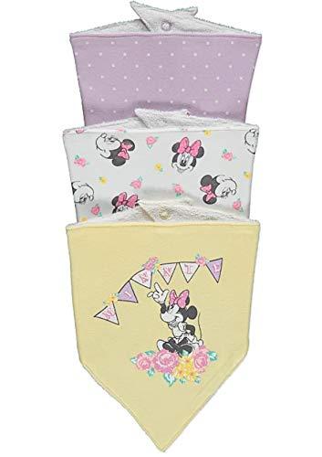 Disney Minnie Mouse Babies - Juego de 3 baberos para bebé