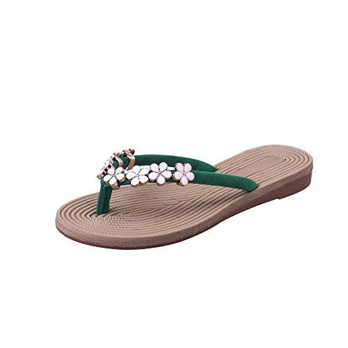 DEELIN Infradito Donna Pantofola Estivi Moda Colore Solido Fiore Fondo Spesso Sandali Scarpe da Spiaggia Flip Flop Slipper,Taglia 35-41 EU