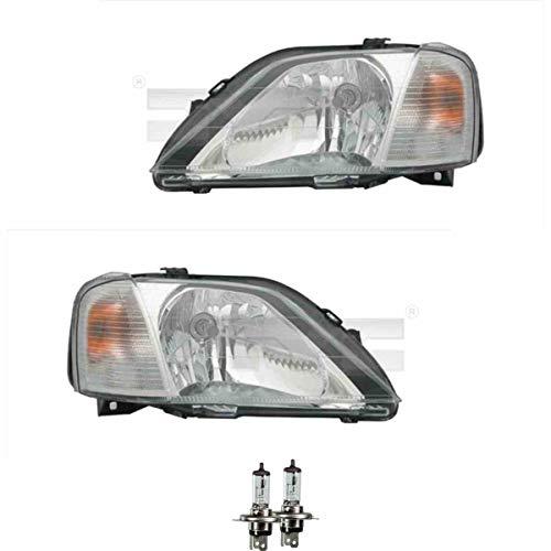 Scheinwerfer Set H4 für Logan MCV KS_ LS_ US_ FS_ inkl. Osram Lampen mit Lampenträger ohne Steuergerät (Kabeleinsteller)