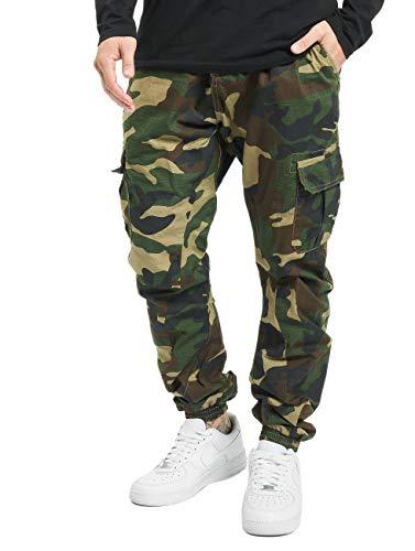Urban Classics Herren Ripstop Cargo Jogging Pants Hose, Mehrfarbig (Woodcamo 00841), W(Herstellergröße: S)