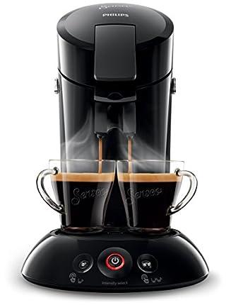 Philips Cafetera Senseo New Original, Elección de crema Plus, grosor de café, color negro negro