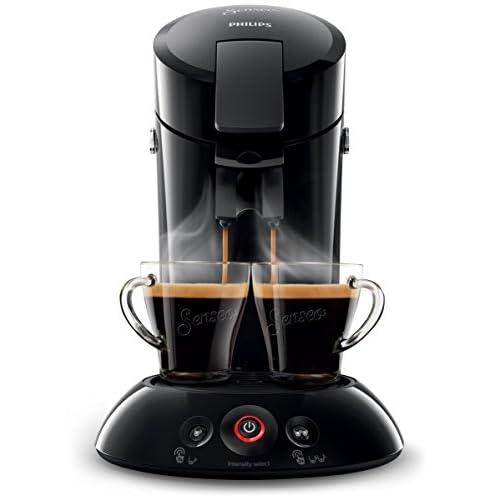 Philips, macchinetta per il caffè Senseo, per cialde (caffè Crema Plus con possibilità di sceglierne l'intensità) Nero